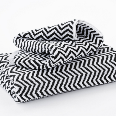 Hotel Luxury Collection Black And White Herringbone Bath Mats Black And White Towels White Towels White Bath