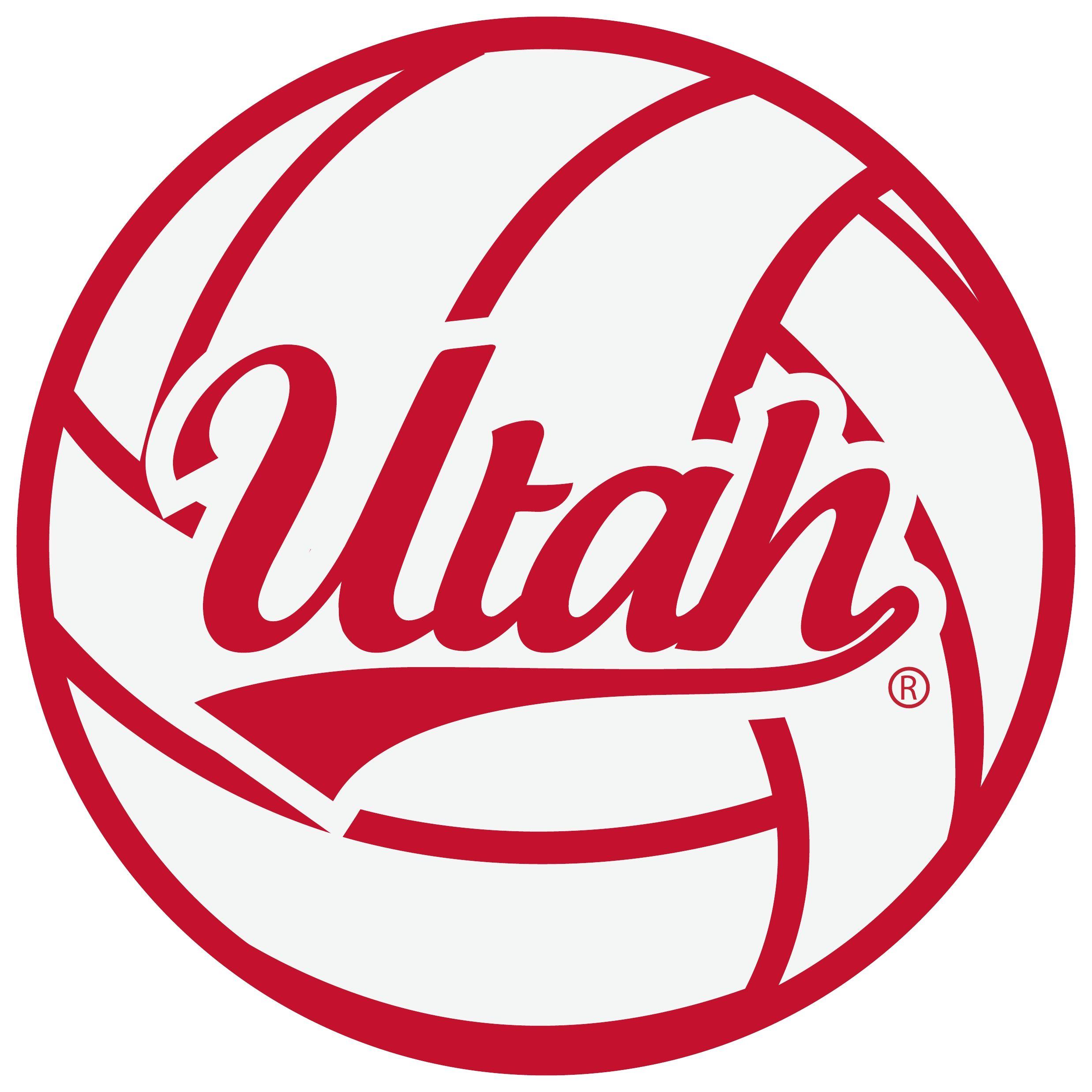 Volleyball Utah Script Outline Vinyl Decal 1 Utah Utah Utes Vinyl Decals
