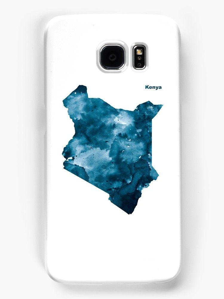 Kenya kenya africa state map art print