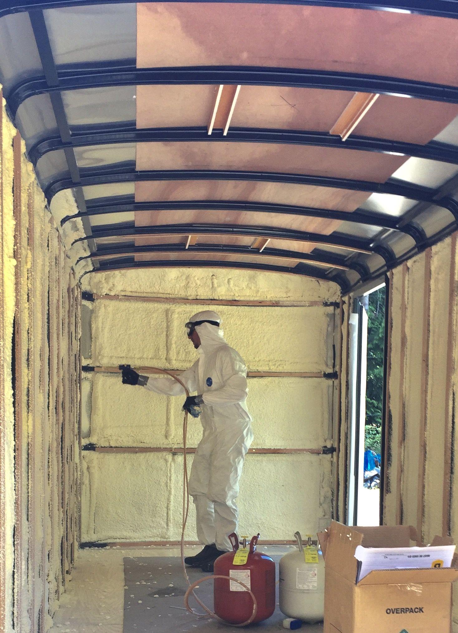Spray Foam Insulation By Touch N Seal Cargo Trailer Conversion Sprinter