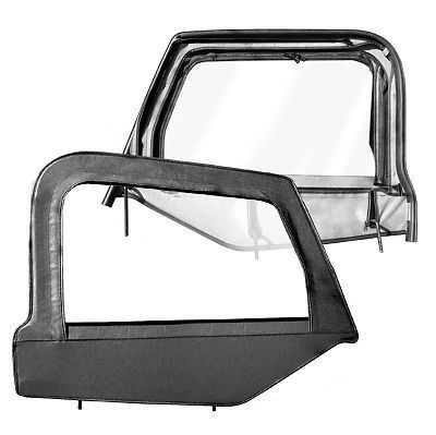 1997 2006 jeep wrangler replacement upper window doors with frame black diamond