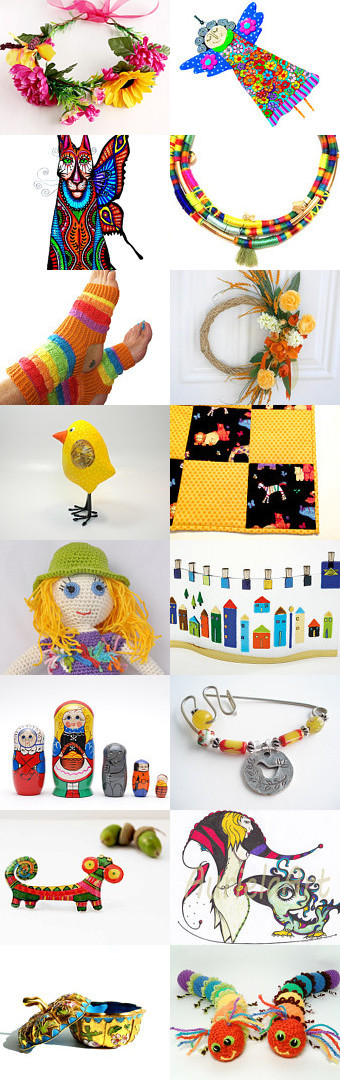 Wish you a Colorful 2015! by Anna Margaritou on Etsy--Pinned with TreasuryPin.com