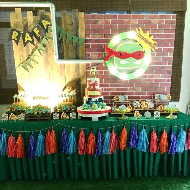 Rafa S Teenage Mutant Ninja Turtles Themed Party 1st Birthday Ninja Turtle Theme Party Party Themes Teenage Mutant Ninja Turtles