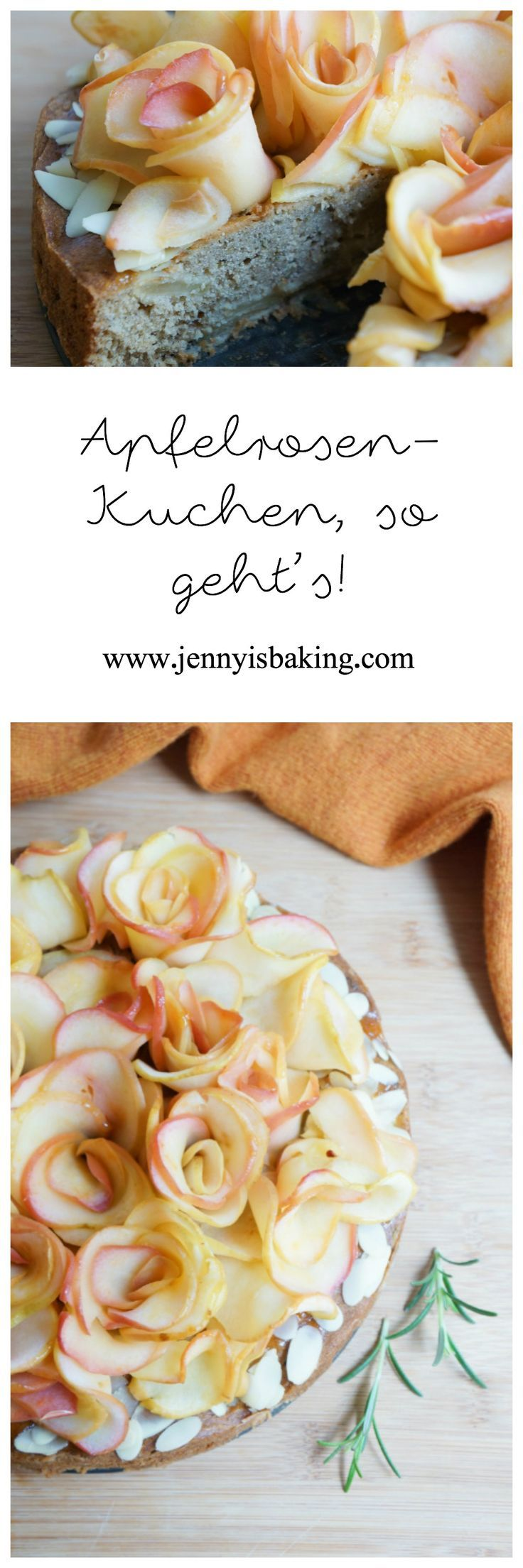 Apfelrosen-Kuchen - Jenny is baking