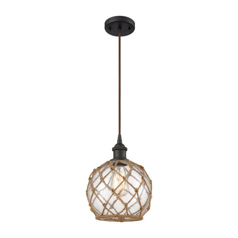 Helland 1 Light Single Globe Pendant In 2020 Globe Pendant Mini Pendant Light