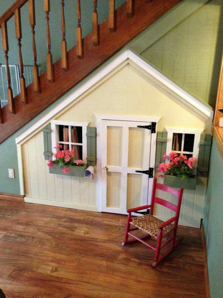 A Playhouse Under Stairs Cute Little Idea Without Taking Up Floor E To Fuel Children S Imaginations