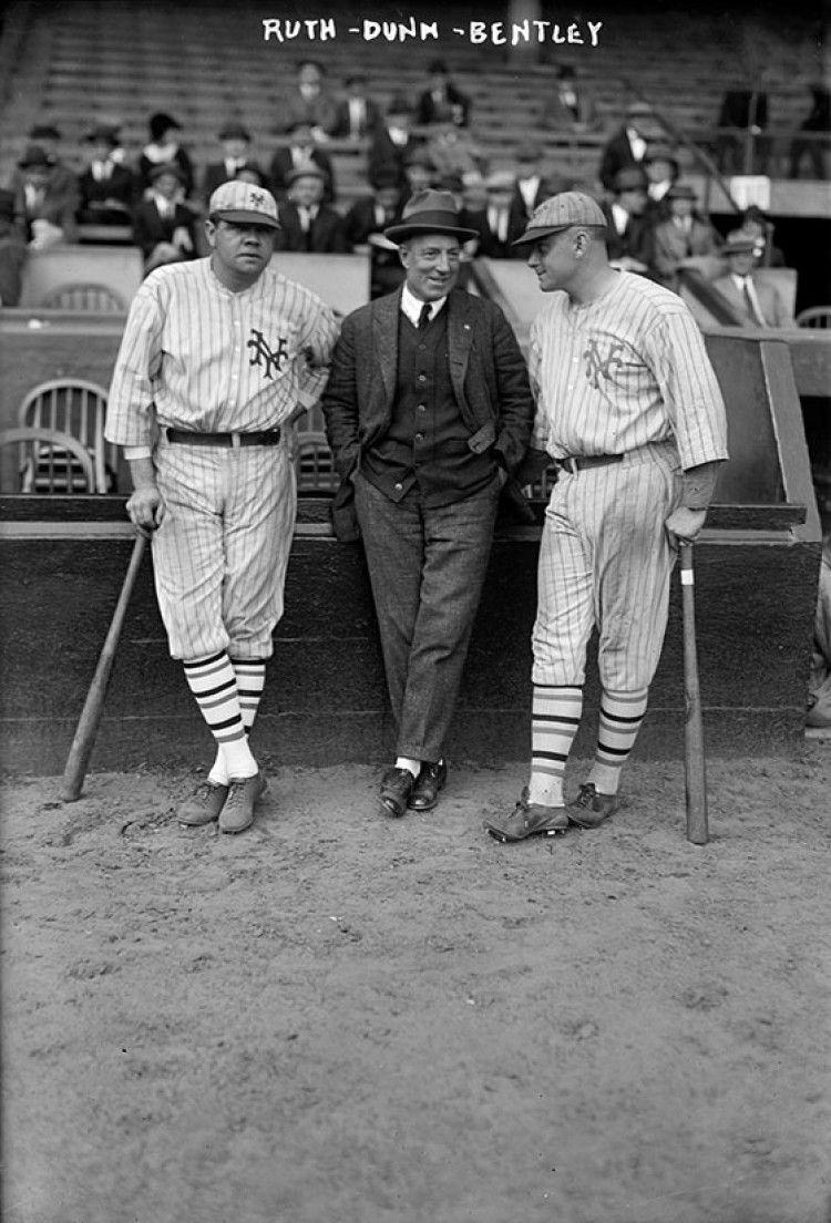 1923 NY Yankees Babe Ruth Jack Bentley Group Sports Photo ...