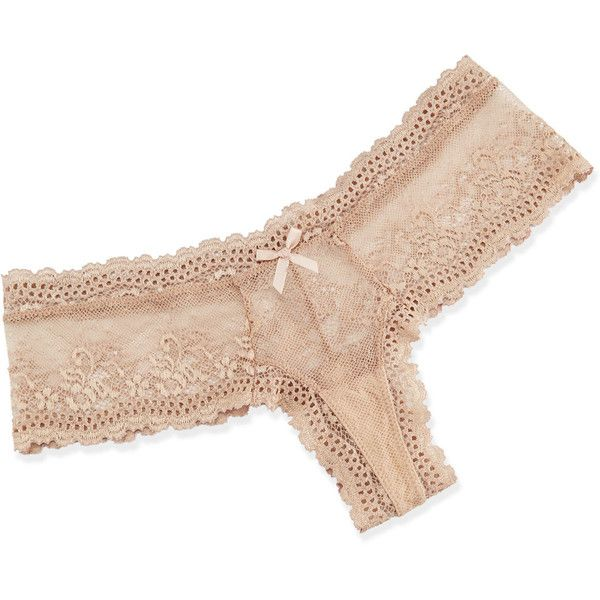 Eberjey Colette Lace Boy-Leg Thong (53 CAD) ❤ liked on Polyvore featuring intimates, panties, white, white thong, eberjey, bow thong, white lace boyshorts and low rise thong