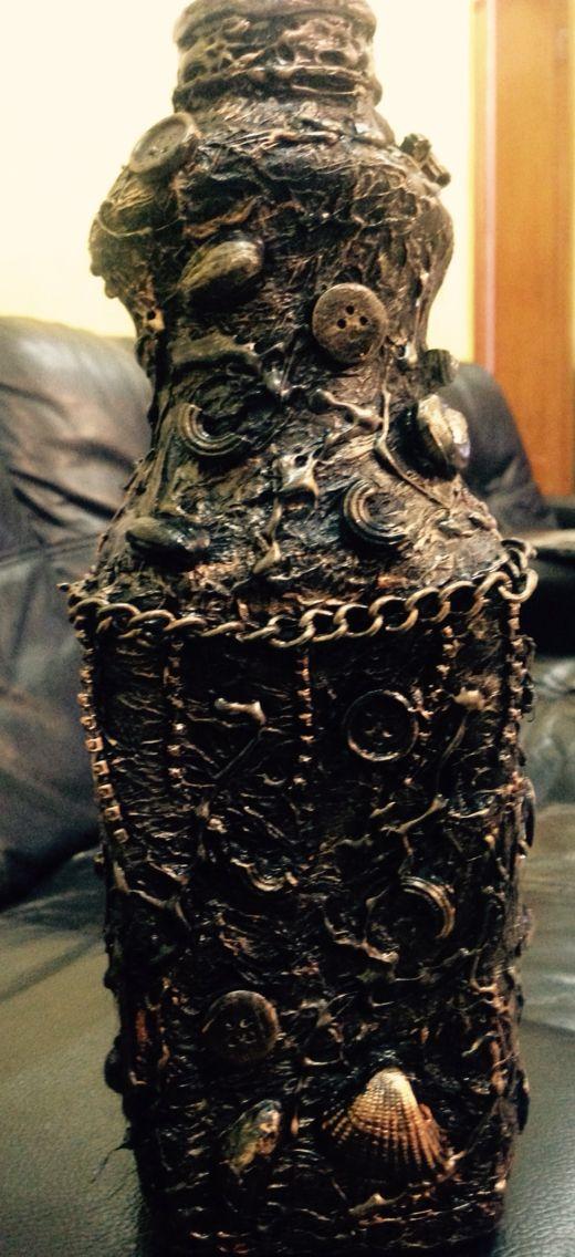 5 Elfenhäuschen in vintage Bronze