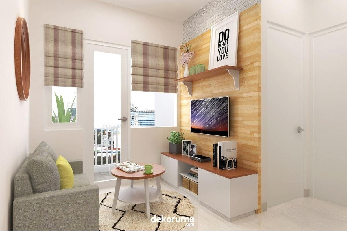 Desain Ruang Tamu 3X3  Art deco home, Art deco hotel, Bedroom decor