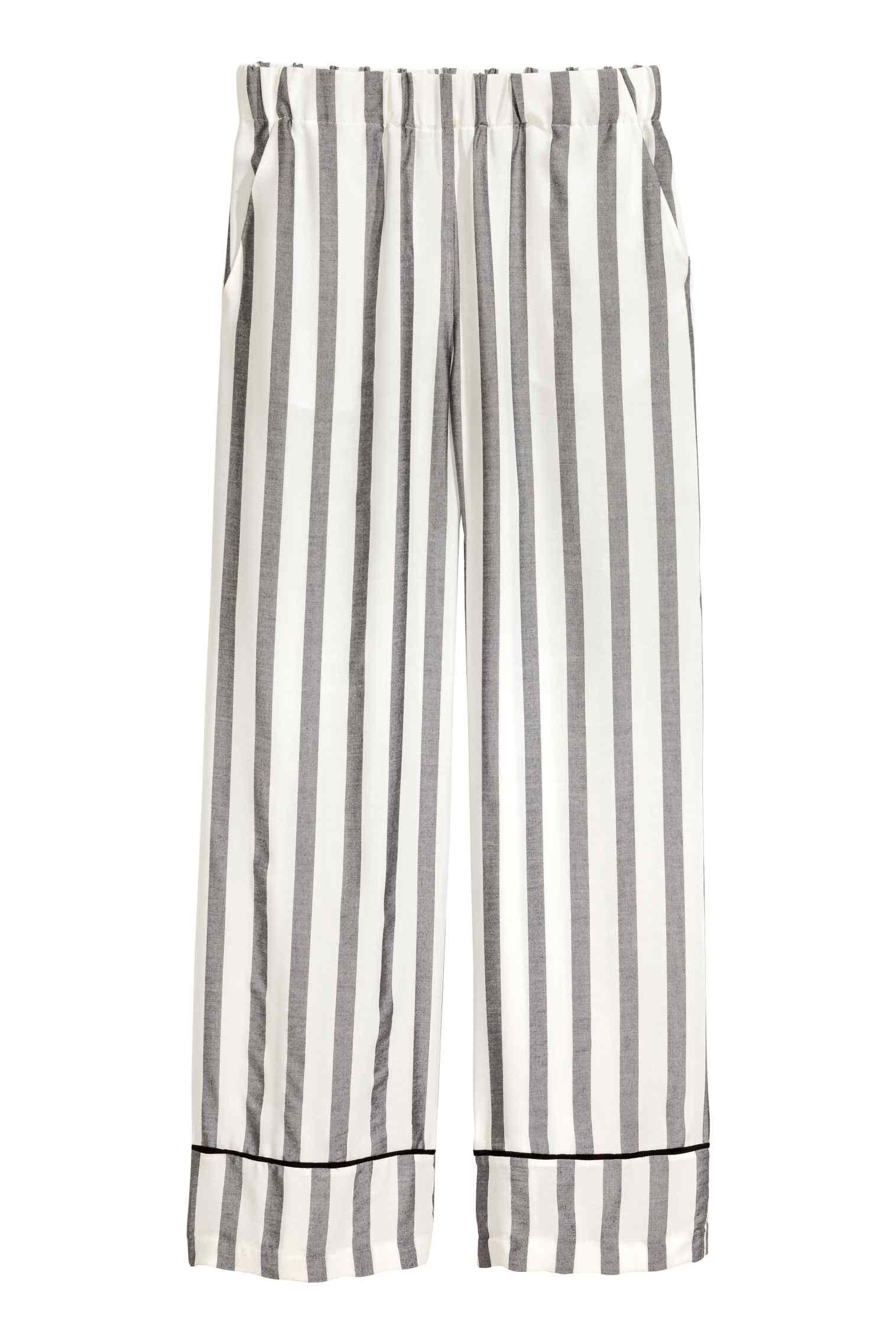 Pantalon ample - Noir/blanc/rayé - FEMME 25€  | H&M FR