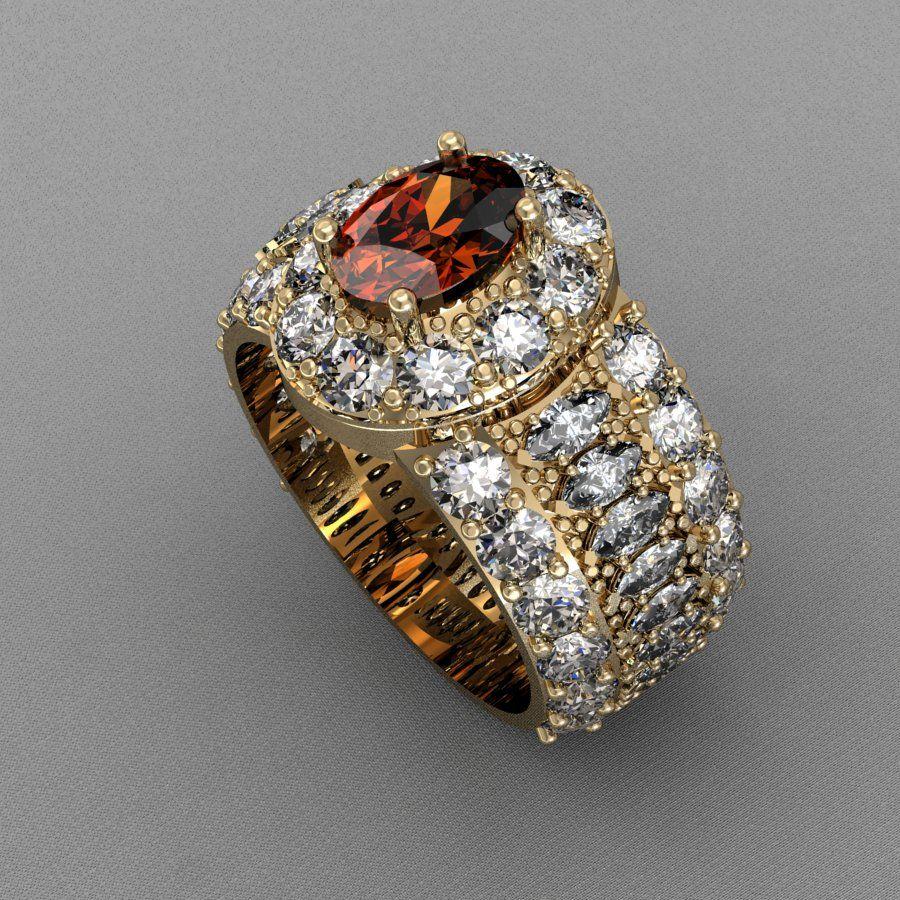 Original birthstone and diamond ring to celebrate 50th