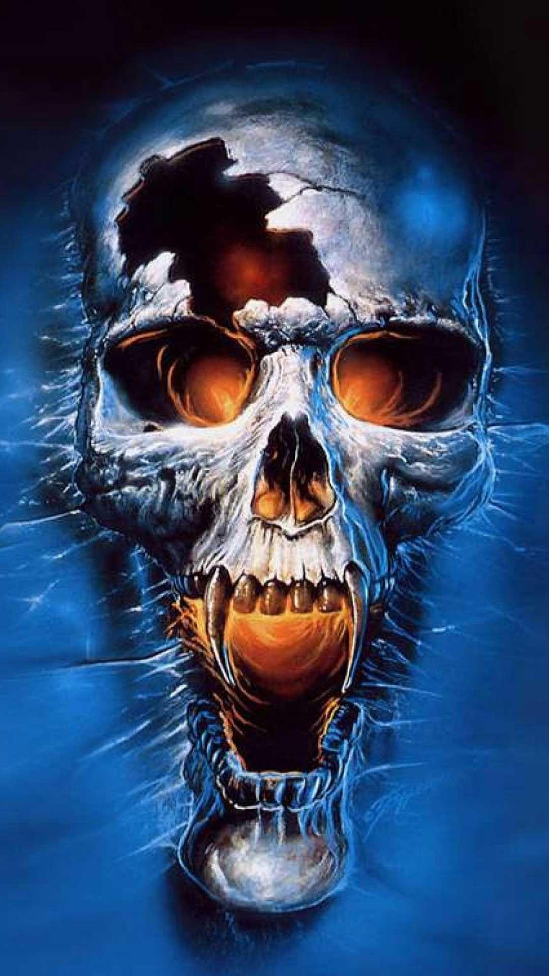 Skull 3d Iphone Wallpaper Best Wallpaper Hd Skull Art Skull Blue Skulls
