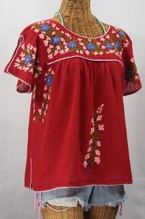 02dee537a1a0a5 mexican embroidered tops women - Google Search | My Style | Tops ...