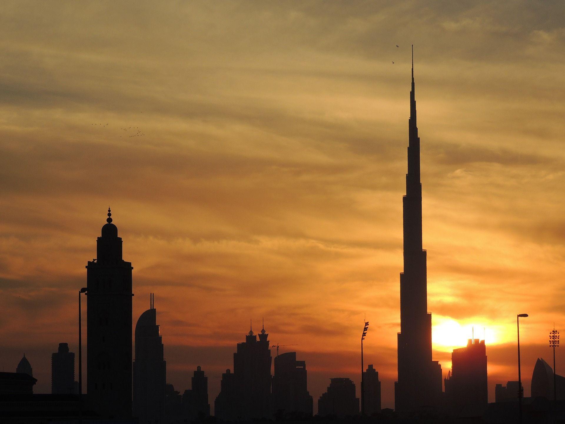 Evening View of Burj Khalifa