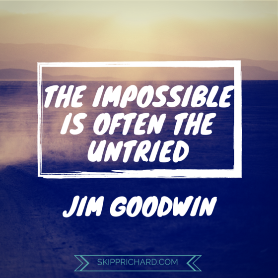 The impossible is often the untried essay