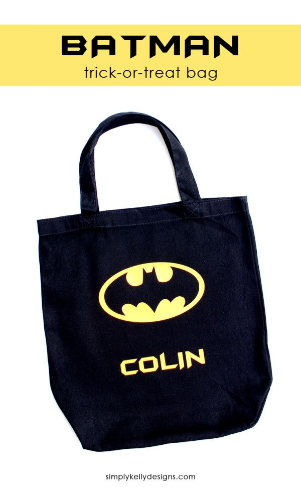 Make A Personalized Batman Trick Or Treat Bag For Your Little This Silhouette