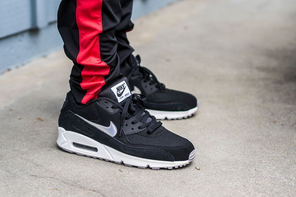 cd0d0b8ac2 See how the Air Max 90 Essential Black & Silver looks on feet in my  exclusive video review along with a small write up including where to find  online!