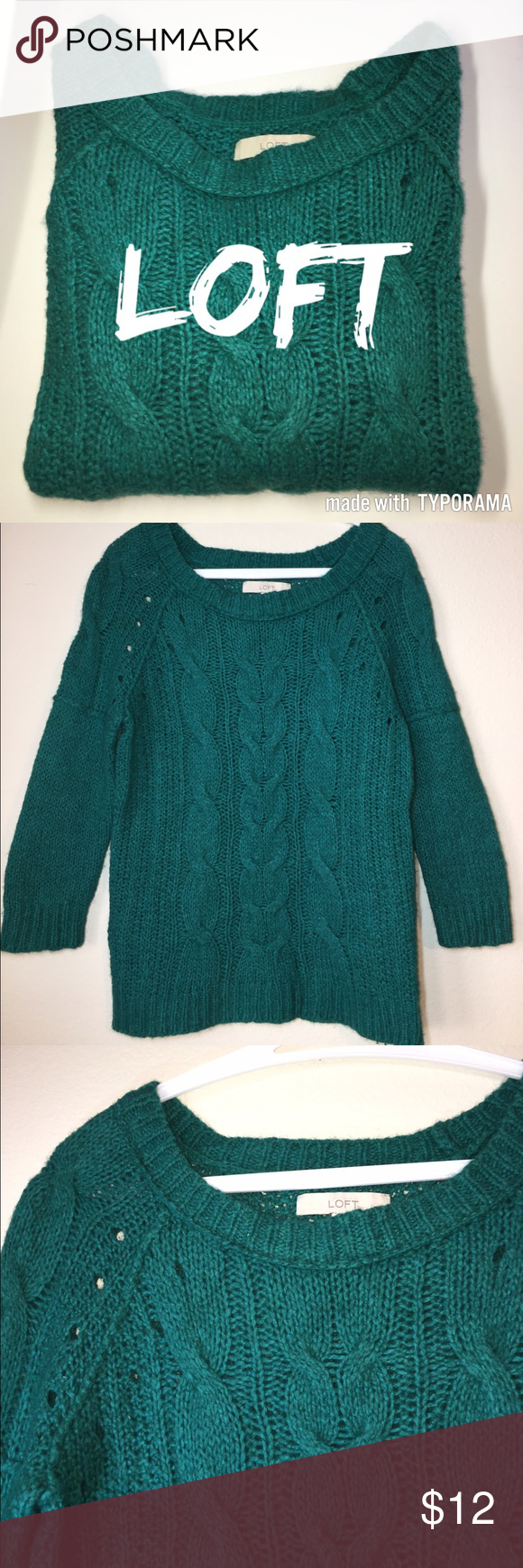 👛SALE👛 LOFT Cable Knit Sweater | Cable knit sweaters, Cable ...