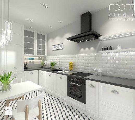 Aranzacje Wnetrz Kuchnia Mieszkanie Na Poddaszu Hallera Wroclaw Srednia Otwarta Kuchnia W Ksztalcie Litery L Room S Home Appliances Kitchen Home Decor