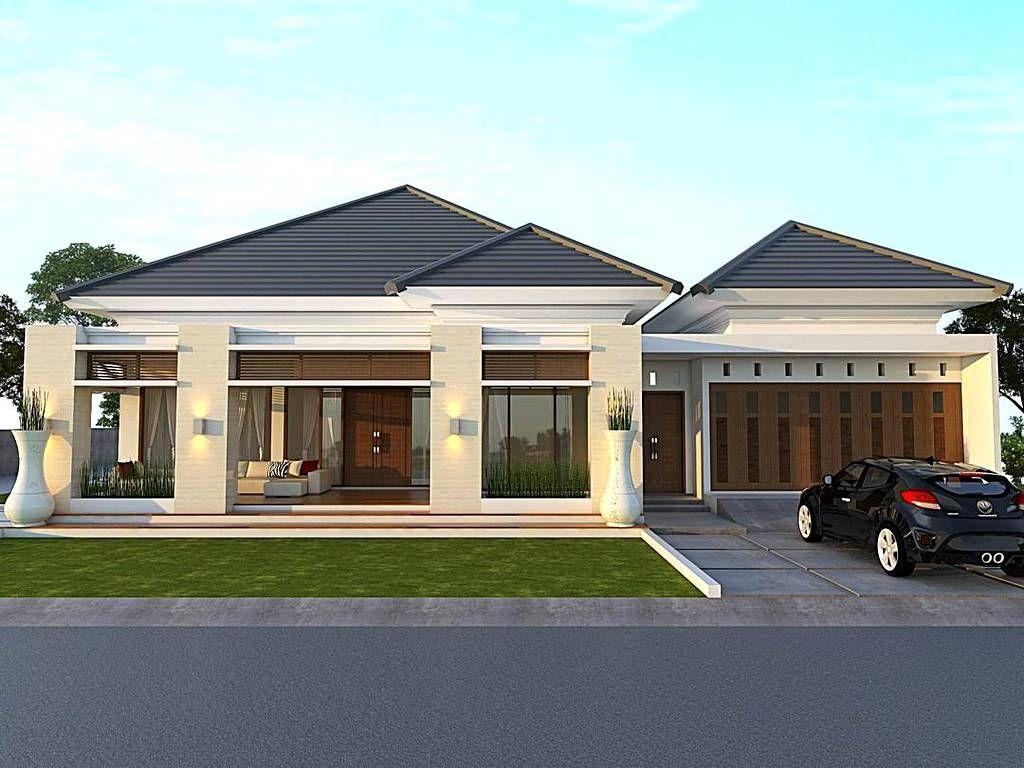Desain Rumah Minimalis Type 45 1 Lantai Tampak Depan di