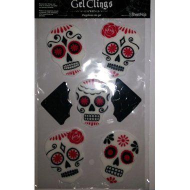 Adult Day of the Dead Dress Costume Pinterest Idea store, Bat - halloween window clings