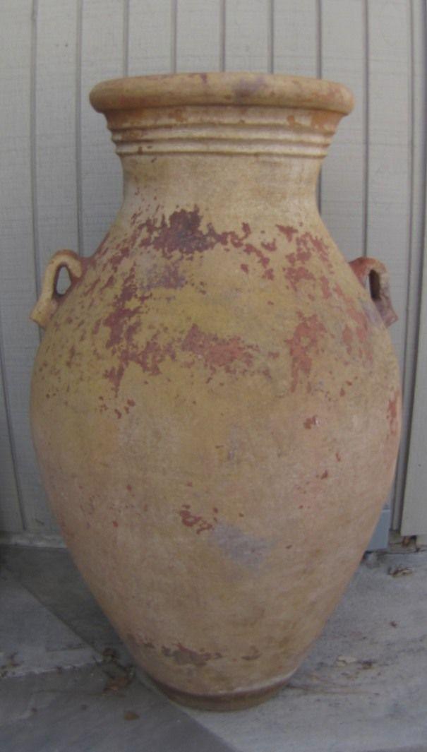 Large Vintage Terra Cotta Garden Pot Urn Side Handles 44 Tall Ar 43 Outdoor Pots Urns Terracotta