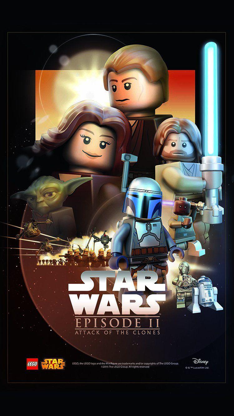 Starwars Lego Episode 2 Attack Of Clones Art Film Wallpaper Hd