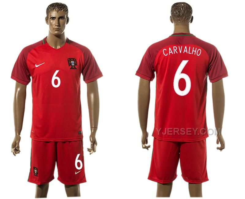 PORTUGAL 6 CARVALHO HOME UEFA EURO 2016 SOCCER JERSEY, Only$35.00 , Free Shipping! http://www.yjersey.com/portugal-6-carvalho-home-uefa-euro-2016-soccer-jersey.html