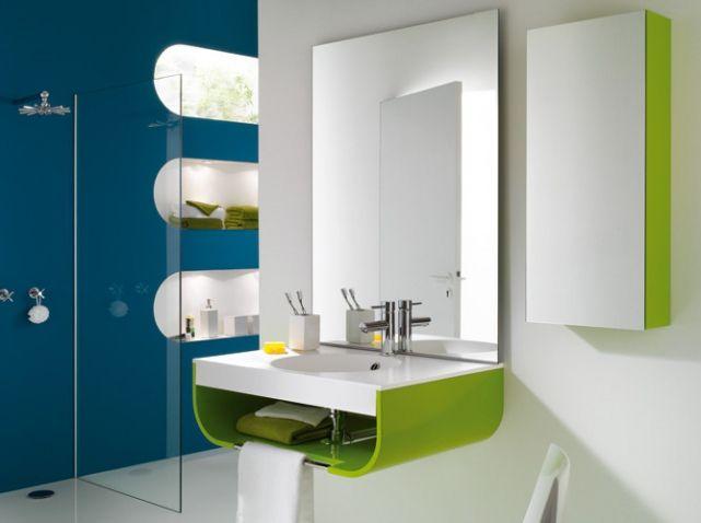 Tendance : vive les années 70 ! | Salle de bains | Bathroom | Déco ...