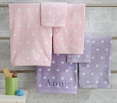 Polka Dot Bath Towel Collection Kids Bath Towel