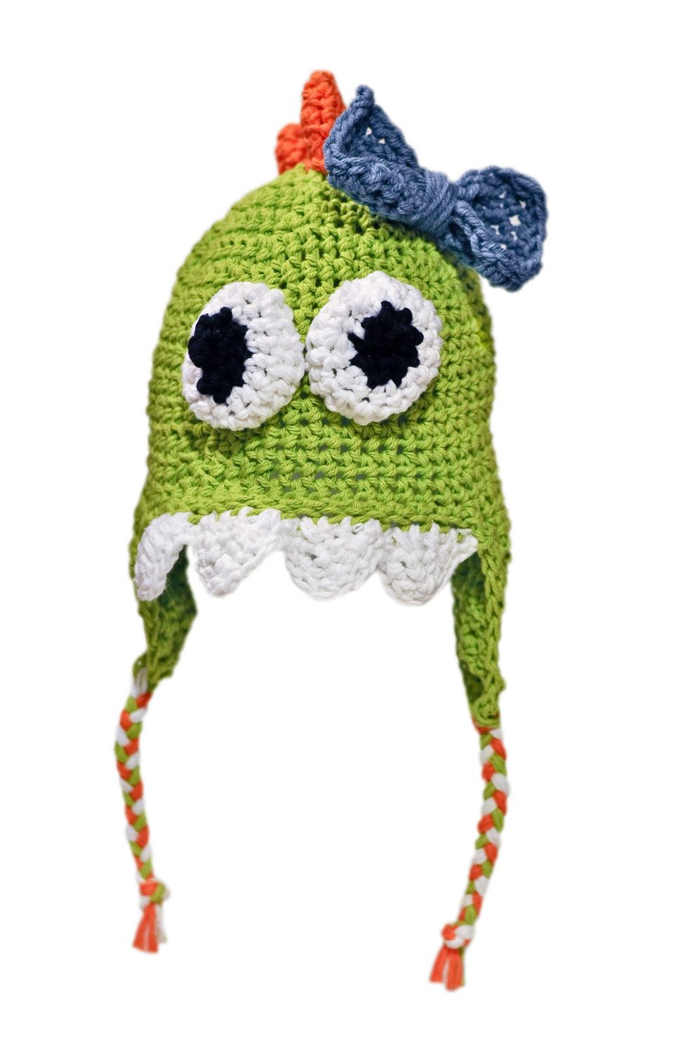 Green Crochet Dinosaur Hat for Boys and Girls, Made to Order. $25.00 ...