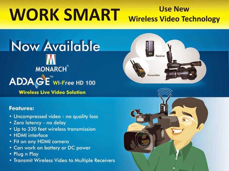 Addage Wi-free HD Transmit Wireless Video you are ready to transmit