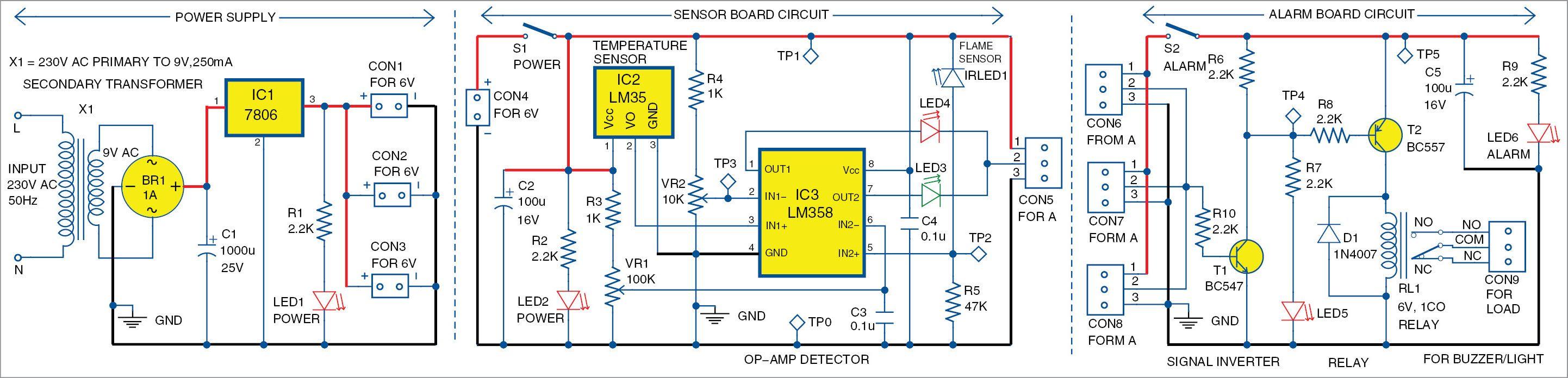 simple multi sensor fire alarm [ 2884 x 696 Pixel ]