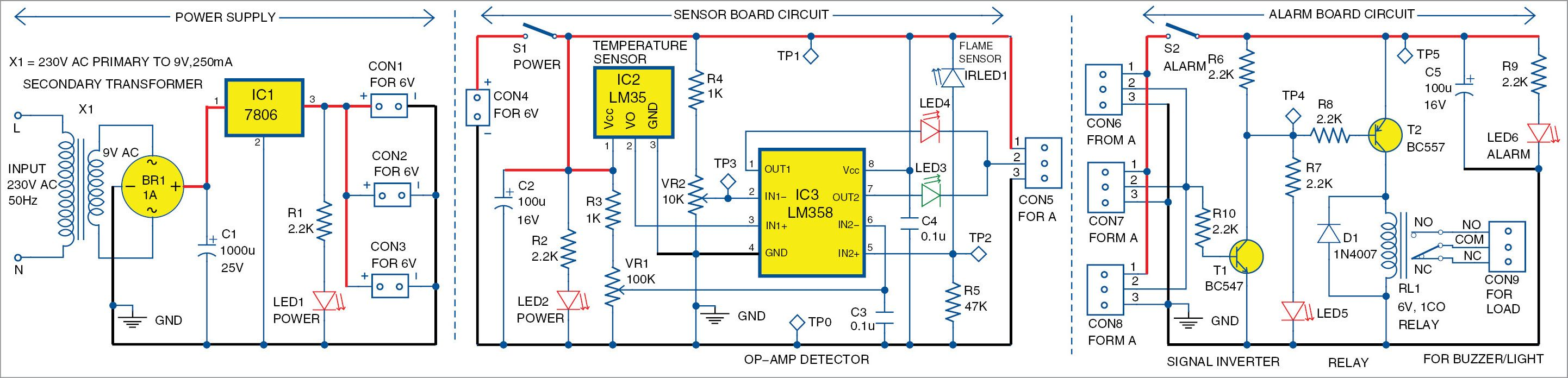 medium resolution of simple multi sensor fire alarm