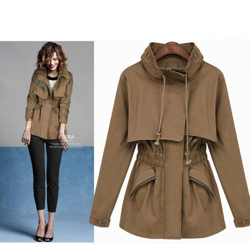 2012 Newest Fashion Linen Cloak Elasticised Wasit Girls Jacket ...