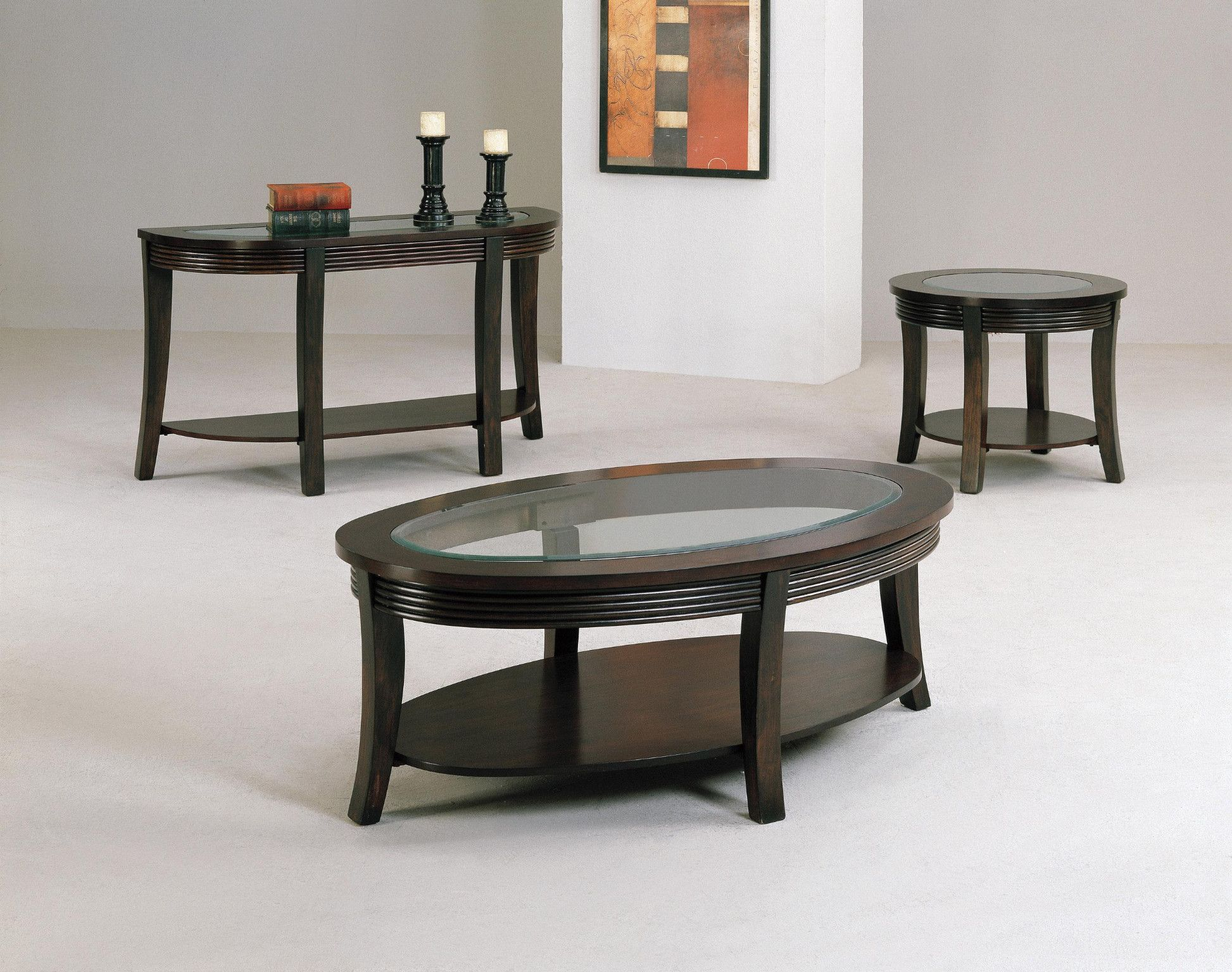 Simone 3 Piece Table Set Coffee And 2 End Tables 399 00 Coffee Table 52 X 32 X 19 25 H End Table 28 D Coffee Table Glass Top Table Table [ 1536 x 1946 Pixel ]