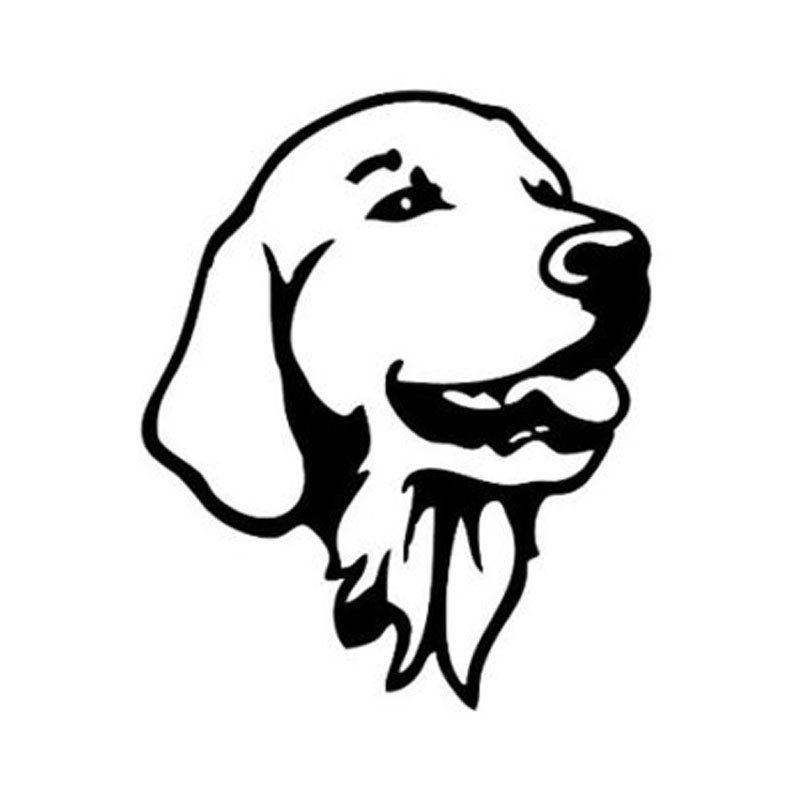Golden Retriever Head Car Sticker Dog Tattoos Golden Retriever