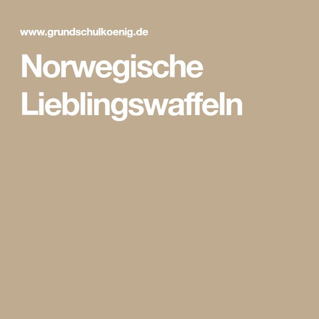 Norwegische Lieblingswaffeln