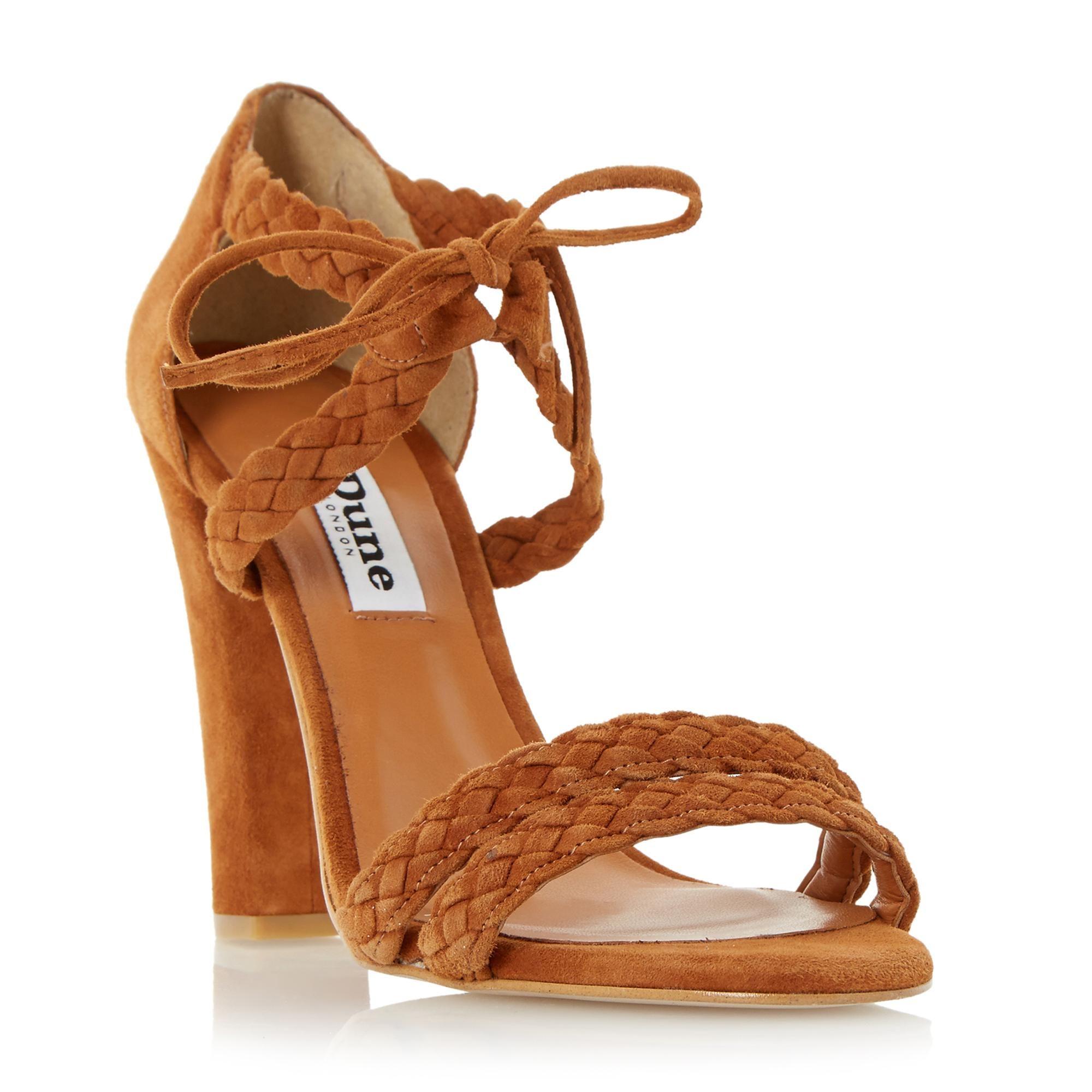 DUNE LADIES MARLEE - Plaited Strap High Heel Sandal - tan | Dune Shoes  Online