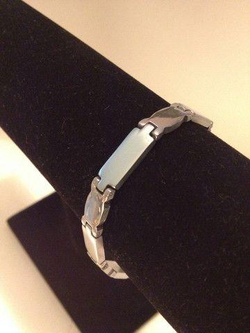 Silver Stainless Steel Women Bracelet Straight Link (BSS279) – Mae Gems Discount Center