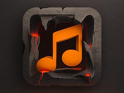 Music App Ios Icon Iphone App Design Icon Design