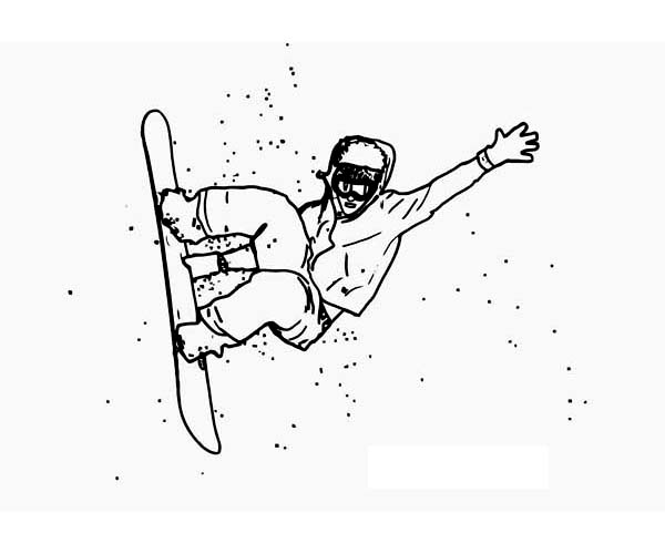 An Expert Snowboard Athlete On Winter Season Sport Coloring Page Color Luna Sports Coloring Pages Coloring Pages Snowboard