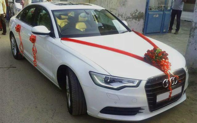 AUDI A White For Wedding Rental In Punjab India Punjab Wedding - Audi car in india