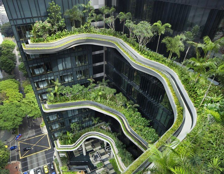 Park Royal Hotel in Singapore by WOHA Architects Green