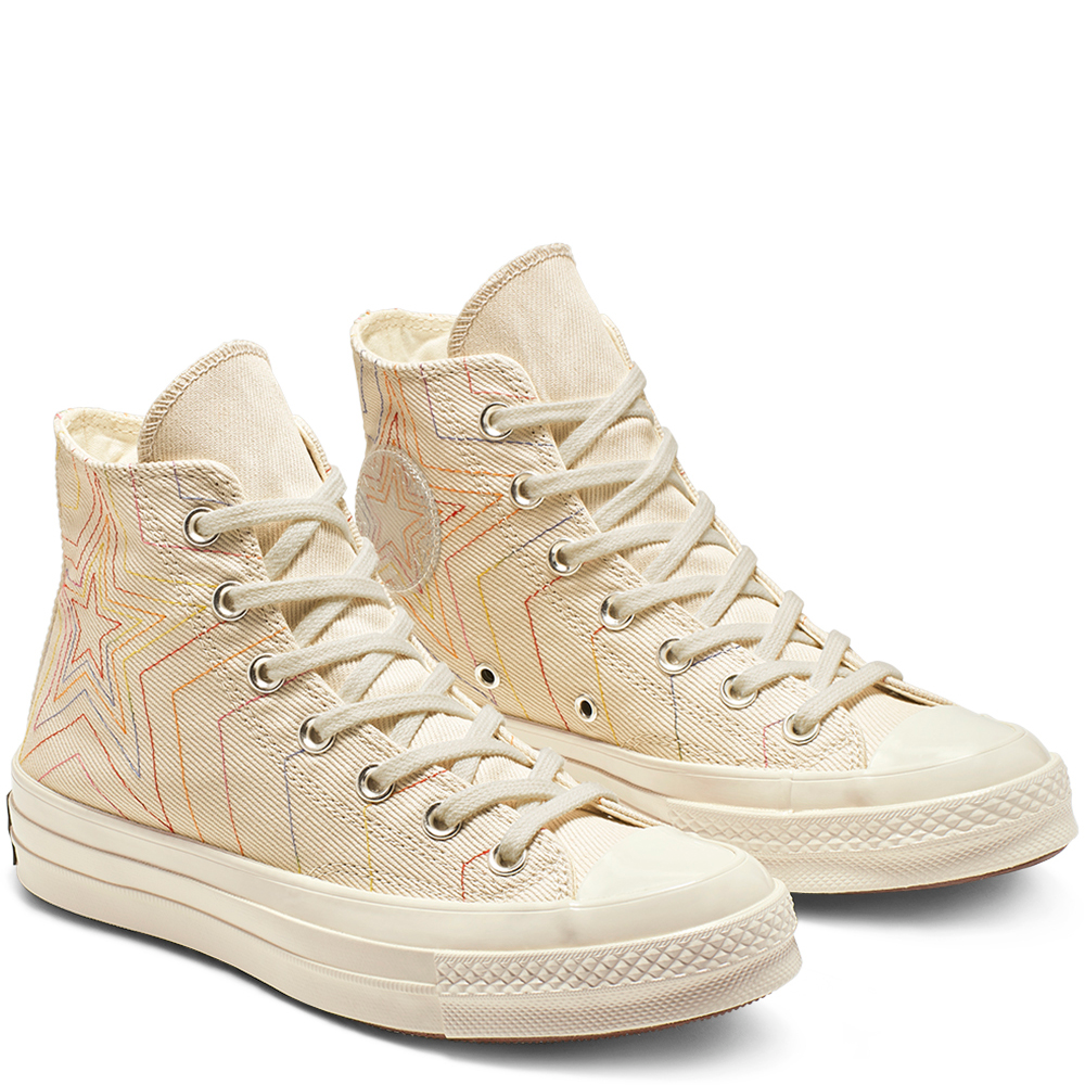 Chuck 70 Exploding Star High-Top White