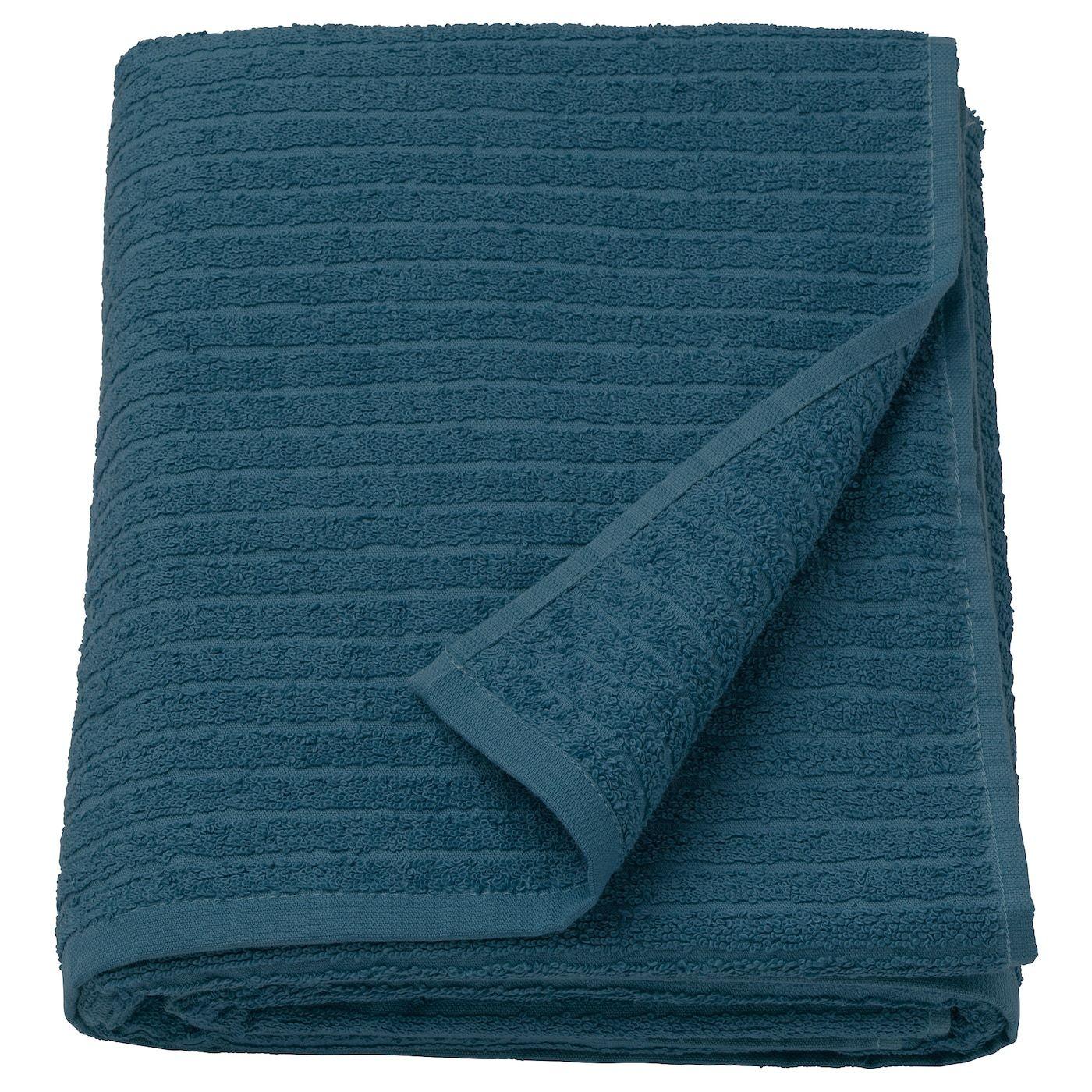 Vagsjon Badelaken Mork Bla 100x150 Cm In 2020 Handtucher Tuch Textilien
