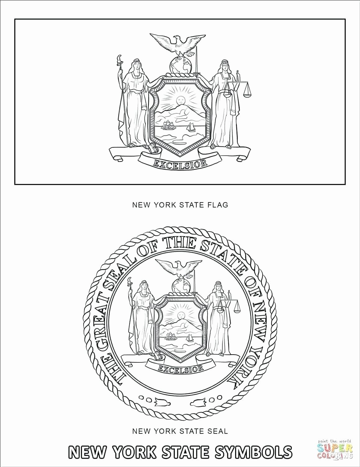 Louisiana State Flag Coloring Page Elegant New York State Coloring Page Findpage