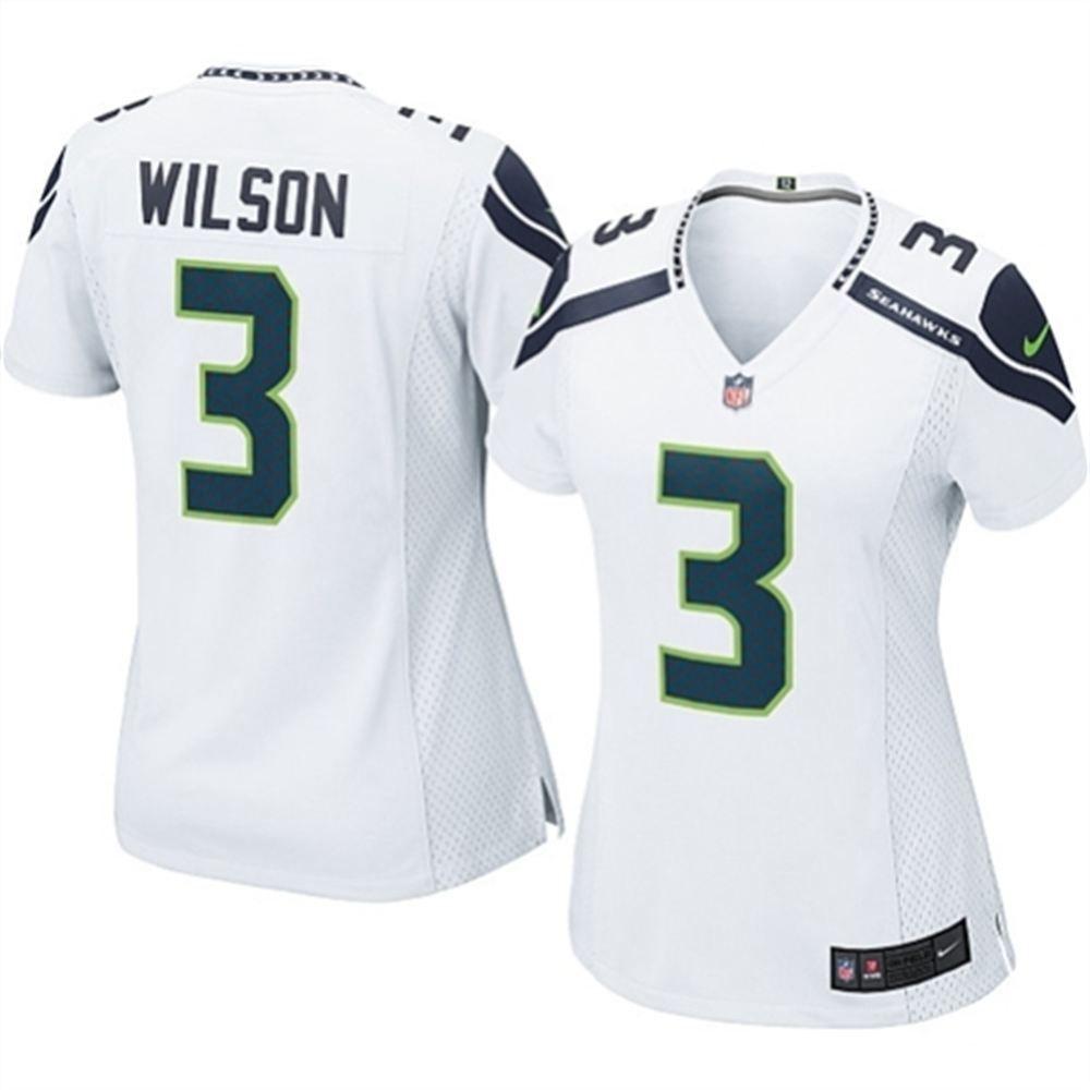 885c95111 Women s Seattle Seahawks Russell Wilson Nike White Game Jersey ...
