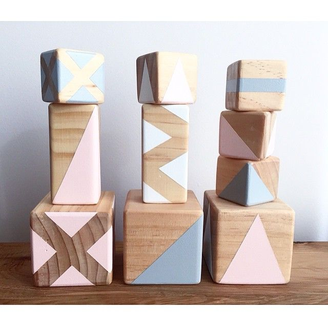 Wooden blocks by Gold Rabbit and Co